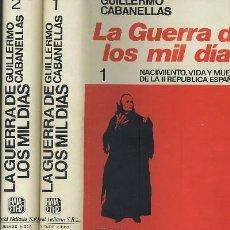 Libros de segunda mano: LA GUERRA DE LOS MIL DIAS (2 TOMOS). Lote 21017383