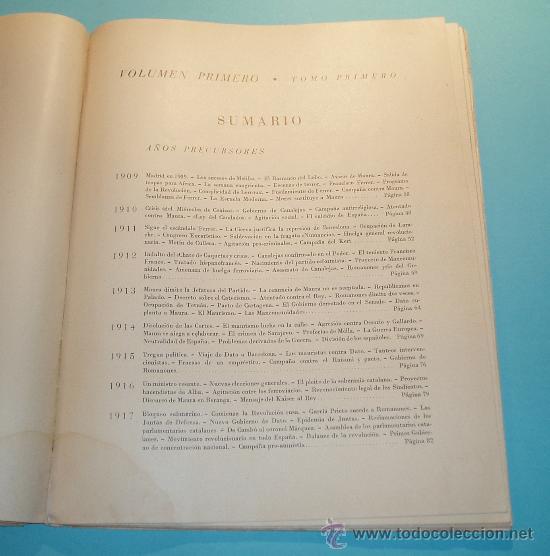 Libros de segunda mano: HISTORIA CRUZADA ESPAÑOLA. VOL. I. TOMO I. 1939. AÑOS PRECURSORES (1909 A 1923). FOTOS B/N Y LÁMINAS - Foto 3 - 27045040