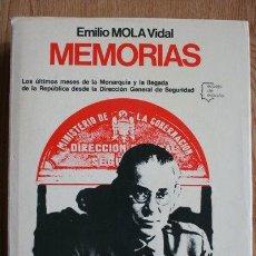 Libros de segunda mano: MEMORIAS. MOLA VIDAL (EMILIO). Lote 29901669