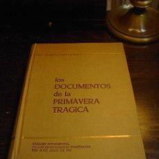Libros de segunda mano: RICARDO DE LA CIERVA, LOS DOCUMENTOS DE LA PRIMAVERA TRAGICA, ANALISIS DOCUMENTAL DE LOS. Lote 31728935