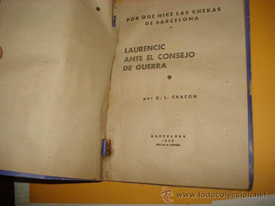Libros de segunda mano: Antiguo POR QUÉ HICE LAS *CHEKAS* DE BARCELONA R, L. CHACON. - Foto 3 - 34651761
