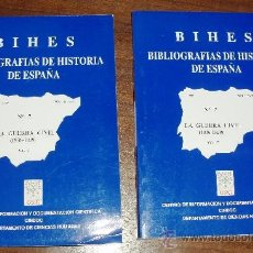 Libros de segunda mano: BHIES. BIBLIOGRAFÍAS DE HISTORIA DE ESPAÑA. LA GUERRA CIVIL (1936-1939). Lote 38102724