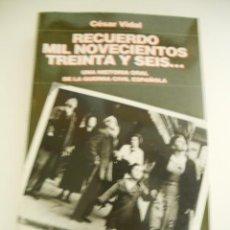 Libros de segunda mano: RECUERDO DE 1936, GUERRA CIVIL. Lote 38932014
