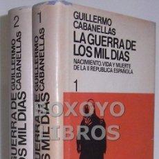Libros de segunda mano: GUILLERMO CABANEÑAS. LA GUERRA DE LOS MIL DÍAS. NACIMIENTO, VIDA Y MUERTE DE LA II REPÚBLICA ESPAÑOL. Lote 39407684