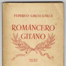 Libros de segunda mano: ROMANCERO GITANO. FEDERICO GARCIA LORCA. AÑO 1937, . Lote 40878077