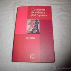 Libros de segunda mano: LOS ORIGENES DE LA GUERRA CIVIL ESPAÑOLA.-PIO MORA EDICIONES ENCUENTRO 1999. Lote 262958405