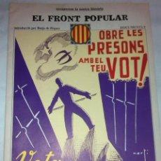 Libros de segunda mano: EL FRONT POPULAR. DOCUMENTS, 9. BCN : ED.62, 1977. 38X27CM. 36 P.. Lote 42353685