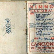 Libros de segunda mano: HIMNOS NACIONALES Y CANCIONES DEL MOVIMIENTO (1939). Lote 45090633