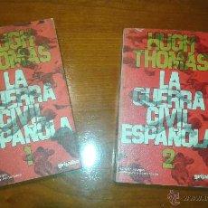 Libros de segunda mano: LA GUERRA CIVIL ESPAÑOLA POR HUGH THOMAS. TOMOS 1 Y 2. GRIJALBO 2ª EDICIÓN. Lote 45664834