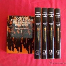 Libros de segunda mano: GUERRA Y REVOLUCION EN ESPAÑA.GEORGES SORIA. Lote 46452430