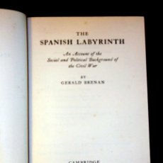 Livres d'occasion: THE SPANISH LABYRINTH. GERALD BRENAN. CAMBRIDGE UNIVERSITY PRESS. 1950. Lote 48353531