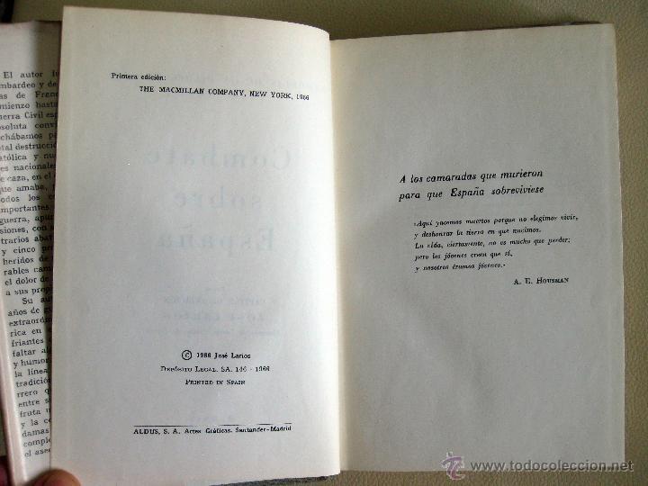 Libros de segunda mano: Larios. Memorias de un piloto de caza 1936-39. Combate sobre España. 1966 - Foto 3 - 48545221