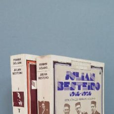 Libros de segunda mano: JULIAN BESTEIRO. 1918-1922. 2 TOMOS. TAURUS. Lote 49006462