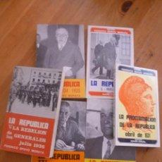 Libros de segunda mano: LA REPUBLICA. 6 TOMOS. FEDERICO BRAVO MORATA. ED. FENICIA. 1973 . Lote 49655993