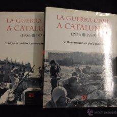 Libros de segunda mano: LA GUERRA CIVIL A CATALUNYA (1936 1939) NUMERO 1-2. Lote 49754446