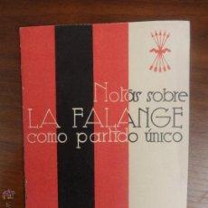 Libros de segunda mano: CUADERNOS DE ORIENTEACION POLITICA I - NOTAS SOBRE LA FALANGE COMO PARTIDO UNICO - ED. NACIONAL . Lote 51671019