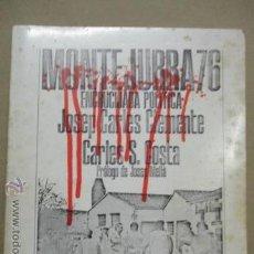 Libros de segunda mano: MONTE JURRA 76 ENCRUCIJADA POLÍTICA TAPA BLANDA – 1976, DE JOSEP COSTA, CARLES S. CARLES CLEMENTE. Lote 52443234
