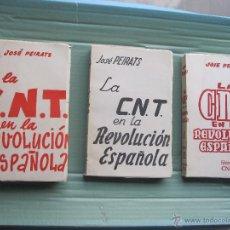 Libros de segunda mano: LA CNT EN LA REVOLUCION ESPAÑOLA. OBRA COMPLETA EN TRES TOMOS - PEIRATS , JOSÉ- ARGENTINA , 1952.. Lote 52596207