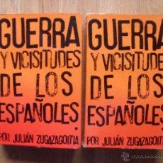 Libros de segunda mano: GUERRA Y VICISITUDES DE LOS ESPAÑOLES, 2 TOMOS JULIAN ZUGAZAGOITIA. Lote 53398356