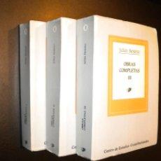 Libros de segunda mano: OBRAS COMPLETAS I, II Y III / JULIAN BESTEIRO. Lote 53633210