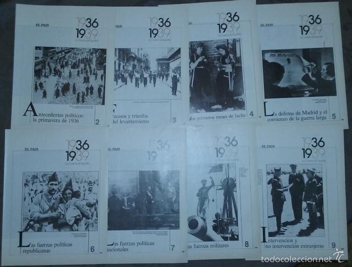 Libros de segunda mano: LA GUERRA DE ESPAÑA 1936 - 1939. COLECCIONABLE EL PAÍS. 21 FASCÍCULOS. 1986. - Foto 2 - 56388894