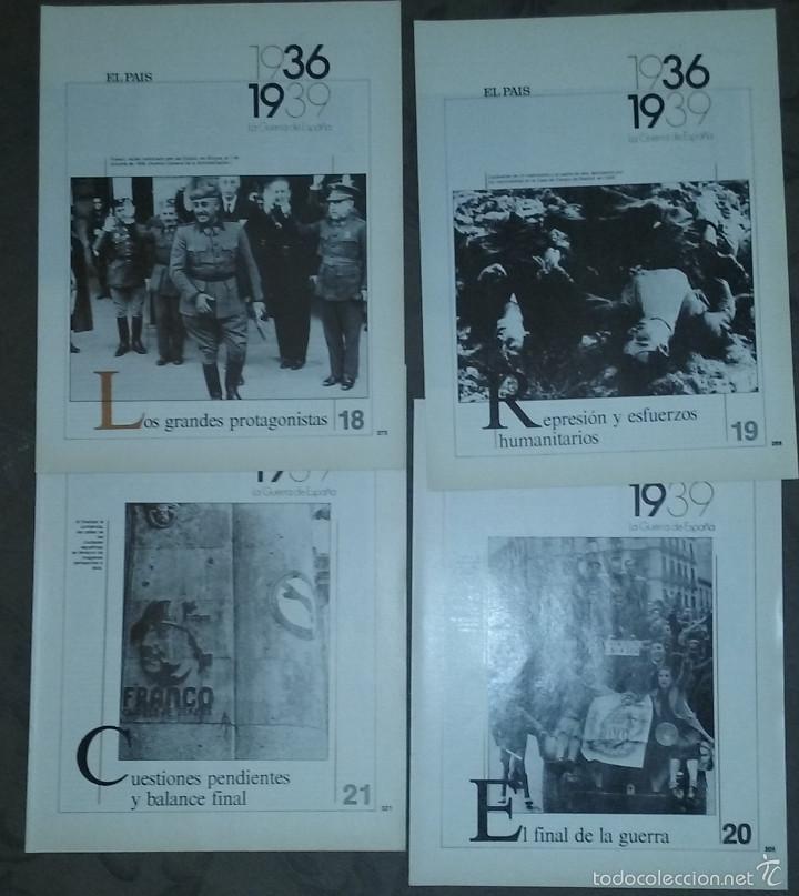 Libros de segunda mano: LA GUERRA DE ESPAÑA 1936 - 1939. COLECCIONABLE EL PAÍS. 21 FASCÍCULOS. 1986. - Foto 4 - 56388894