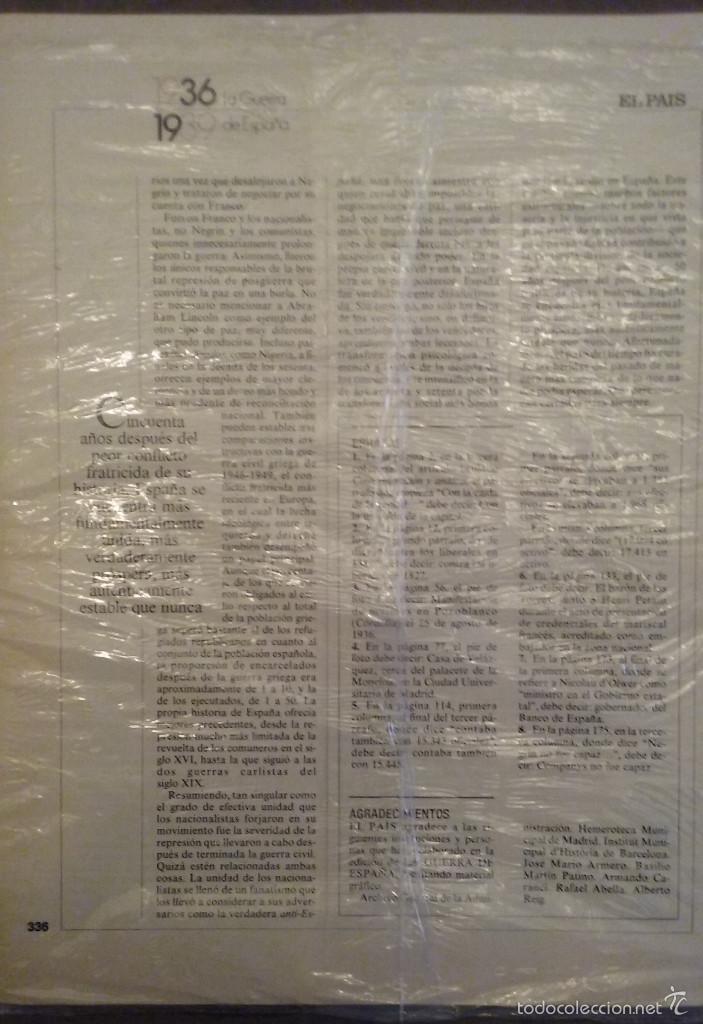 Libros de segunda mano: LA GUERRA DE ESPAÑA 1936 - 1939. COLECCIONABLE EL PAÍS. 21 FASCÍCULOS. 1986. - Foto 5 - 56388894