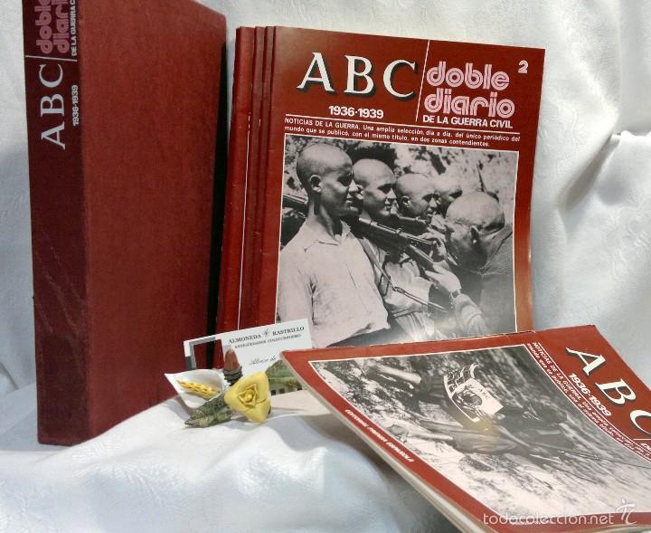 Libros de segunda mano: 1978.- DOBLE DIARIO DE LA GUERRA CIVIL. ABC 1936 -1939. Tomo 1º, FASCICULOS del 1 al 10 - Foto 3 - 57632075