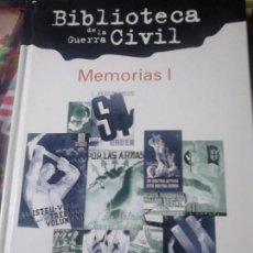 Libros de segunda mano: MEMORIAS I. Lote 58109382