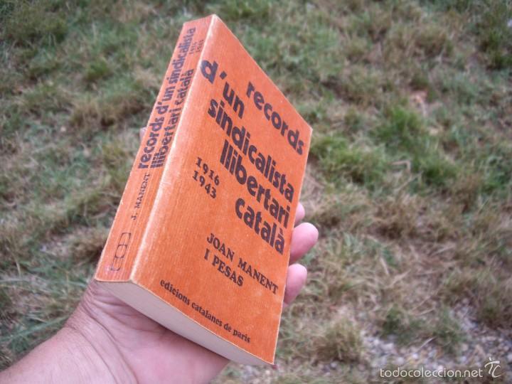 JOAN MANENT: RECORDS D'UN SINDICALISTA LLIBERTARI CATALÀ 1916-1943. EDICIONS CATALANES DE PARIS 1976 (Libros de Segunda Mano - Historia - Guerra Civil Española)