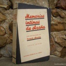 Libros de segunda mano: MEMORIAS ÍNTIMAS DE AZAÑA, EDICIONES ESPAÑOLAS 1939, ILUSTRACIONES DE KIN. Lote 58421054