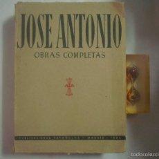 Libros de segunda mano: OBRAS COMPLETAS DE JOSE ANTONIO PRIMO DE RIBERA. 1950. FOLIO.FALANGE.. Lote 58629700