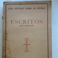 Libros de segunda mano: ESCRITOS. MISION Y REVOLUCION TOMO III. 1940 JOSE ANTONIO PRIMO DE RIVERA. Lote 59846856
