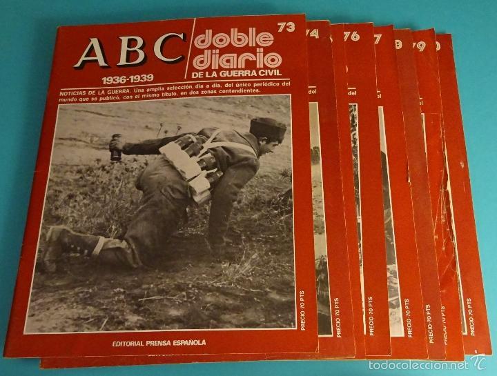 Libros de segunda mano: DOBLE DIARIO DE LA GUERRA CIVIL. 1936-1939. 10 CARPETAS CON 80 FASCÍCULOS - Foto 3 - 49286924