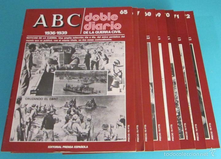 Libros de segunda mano: DOBLE DIARIO DE LA GUERRA CIVIL. 1936-1939. 10 CARPETAS CON 80 FASCÍCULOS - Foto 6 - 49286924