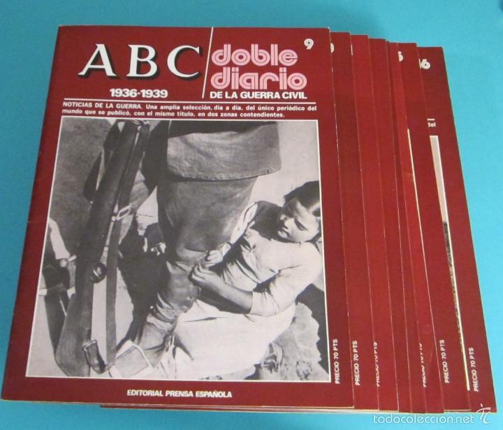 Libros de segunda mano: DOBLE DIARIO DE LA GUERRA CIVIL. 1936-1939. 10 CARPETAS CON 80 FASCÍCULOS - Foto 8 - 49286924