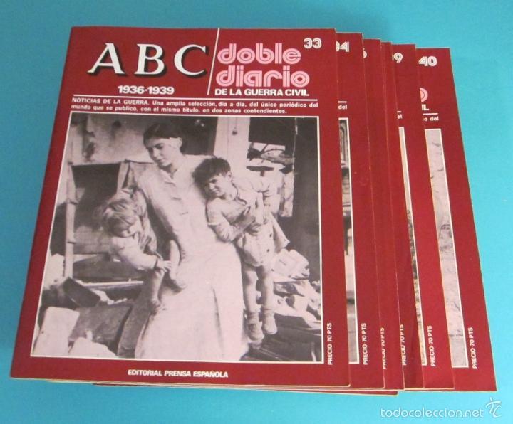 Libros de segunda mano: DOBLE DIARIO DE LA GUERRA CIVIL. 1936-1939. 10 CARPETAS CON 80 FASCÍCULOS - Foto 10 - 49286924