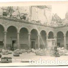 Libros de segunda mano: POSTAL ANTIGUA DE TOLEDO: VISTA GENERAL PATIO DEL ALCAZAR NORTE Y FACHADA/OLD POSTCARD OF TOLEDO: VI. Lote 65106998