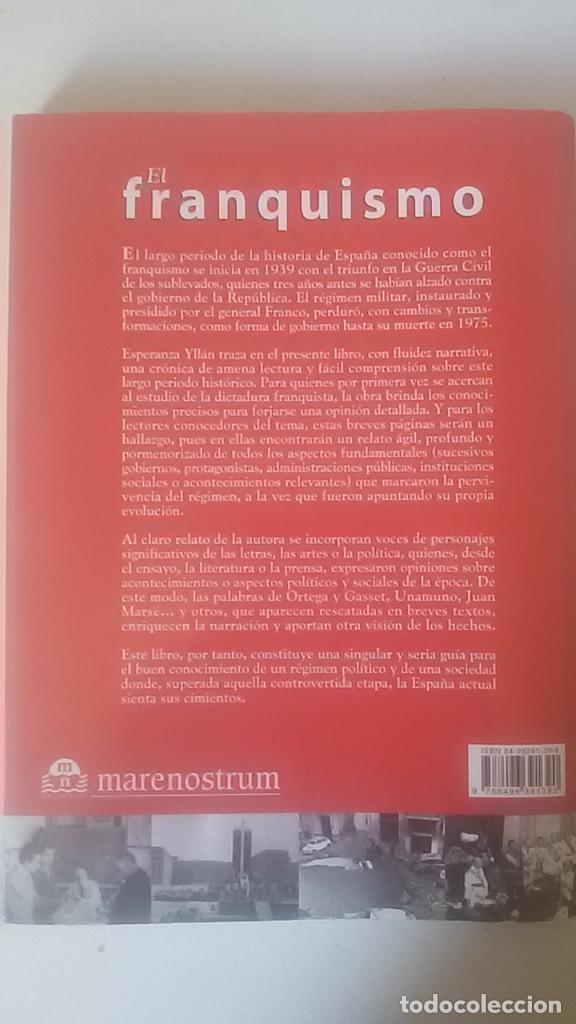 Libros de segunda mano: El franquismo. esperanza yllán calderón. ed. marenostrum - Foto 2 - 67116609