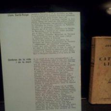 Libros de segunda mano: OMBRES DE LA VIDA I DE LA MORT (1981) LLUIS SARLE-ROIGE (CATALAN). Lote 68410417