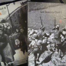 Libros de segunda mano: LA GUERRA CIVIL I Y II . DE EL PAIS . 2 VOLUMENES DE LUJO. Lote 263022665