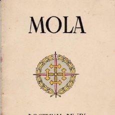 Libros de segunda mano - Mola, doctrinal de un héroe y hombre de Estado. Ed. Nacional, 1937. Guerra Civil. - 75732623
