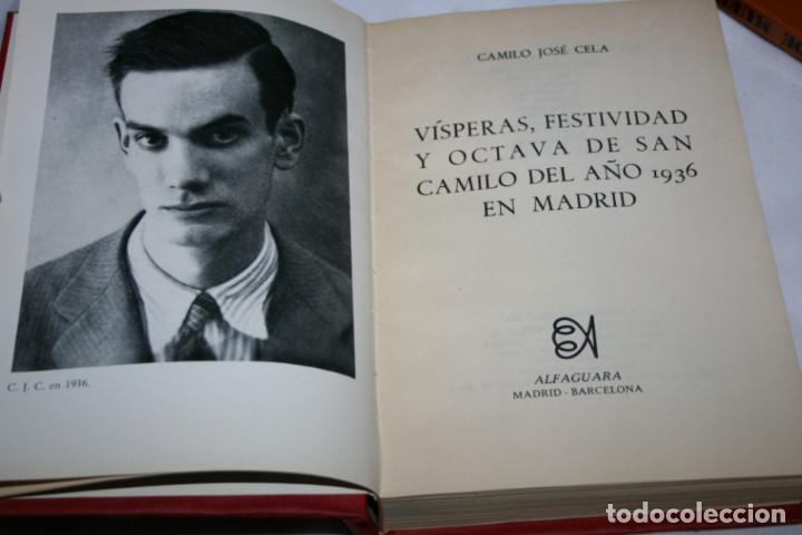 Libros de segunda mano: SAN CAMILO 1936 MADRID, CAMILO JOSE CELA, ALFAGUARA 1970, LIBRO - Foto 2 - 78380925