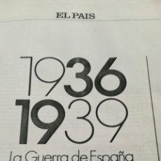 Libros de segunda mano: LA GUERRA DE ESPAÑA 1936-1939. Lote 84108819