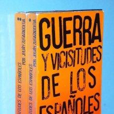 Libros de segunda mano: GUERRA Y VICISITUDES DE LOS ESPAÑOLES (2 VOLÚMENES). Lote 85100140