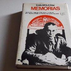 Libros de segunda mano: EMILIO MOLA VIDAL...MEMORIAS. .PLANETA..ESPEJO ESPAÑA... Lote 86197316