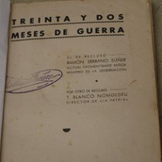 Libros de segunda mano: TREINTA Y DOS MESES DE GUERRA - 1939.. Lote 86504824