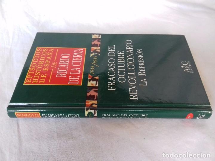 EPISODIOS HISTÓRICOS ESPAÑA-RICARDO DE LA CIERVA-V-27/1934-1935 FRACASO DEL OCTUBRE REVOLUCIONARIO L (Libros de Segunda Mano - Historia - Guerra Civil Española)