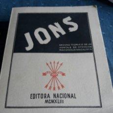 Libros de segunda mano: JONS. EDITORA NACIONAL. 1943.. Lote 89269148