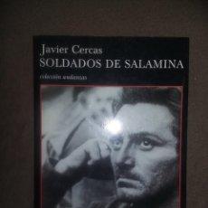 Libros de segunda mano: JAVIER CERCAS. SOLDADOS DE SALAMINA. TUSQUETS. REF. EST. 209. Lote 210547673